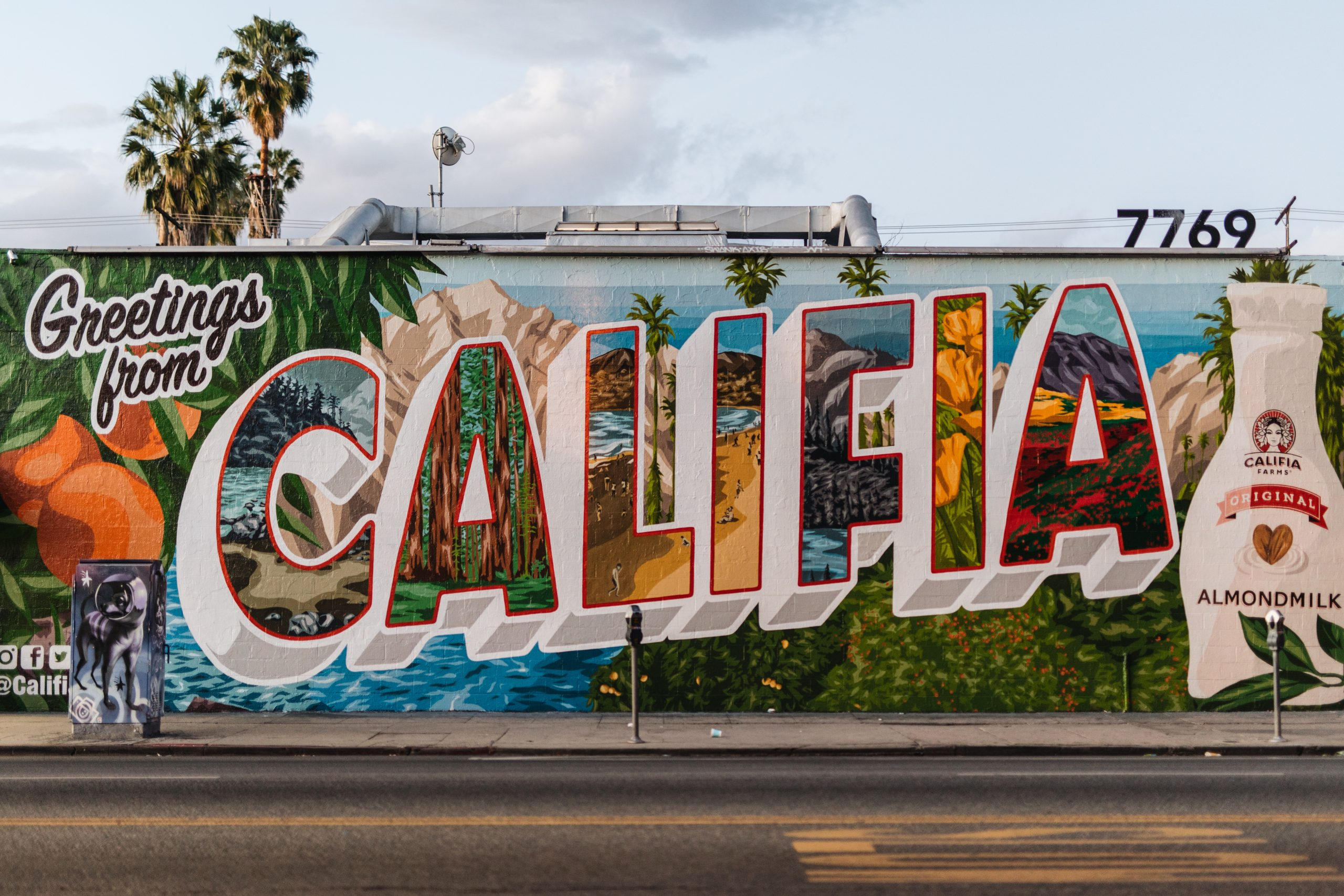 Greetings from Califia graffiti wall